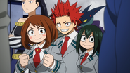 Ochaco, Tsuyu and Eijiro