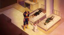 Recovery Girl scolds all might