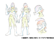 Hanta Sero Costume Shading TV Animation Design Sheet