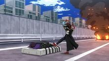 Tomura Shigaraki confronts a defeated Kai Chisaki