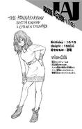 Volume 22 Setsuna Tokage Profile