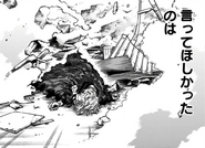 Tomura Shigaraki knocked down by Re-Destro