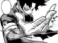 Dabi gets ready to attack