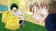 Katsuki scolding Izuku about cleaning