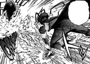 Re-Destro dodges Tomura