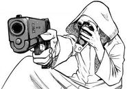 Chronostasis aiming a gun