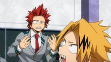 Denki surprised by Eijiro's words