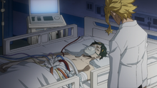 All Might visits Nighteye one last time