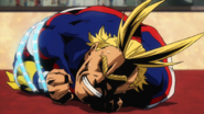 All Might restrained