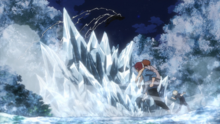 Moonfish evades Shoto's ice