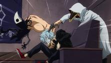 Chronostasis and Mimic threaten Tomura
