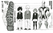 Prototype Izuku, Katsuki, Ochaco, and All Might designs