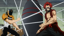 Eijiro and Hanta battle trial