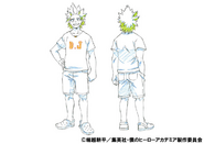 Eijiro Kirishima Casual Shading TV Animation Design Sheet