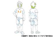 Eijiro Kirishima Casual Shading TV Animation Design Sheet