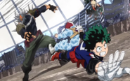 Izuku rescues Shoto from Villain-All Might