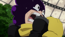 Mineta cheers for All Might
