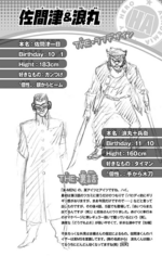 Volume 1 (Vigilantes) Ichimoku Samazu and Jube Namimaru Profile