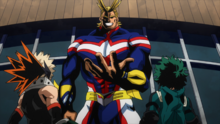 All Might vs Izuku and Katsuki