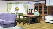 Toshinori talking with the Midoriya family