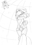 Ochaco Defeating USJ Nomu Sketch