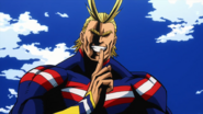 All Might reminds Izuku about their secret