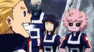 Mirio Togata laughs at Mina Ashido