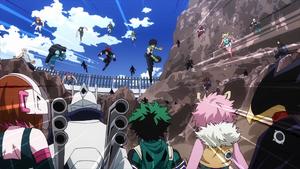 Arco del examen de Licencia de Héroe en anime
