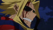 All Might listens to the cheers