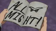 All Might signature
