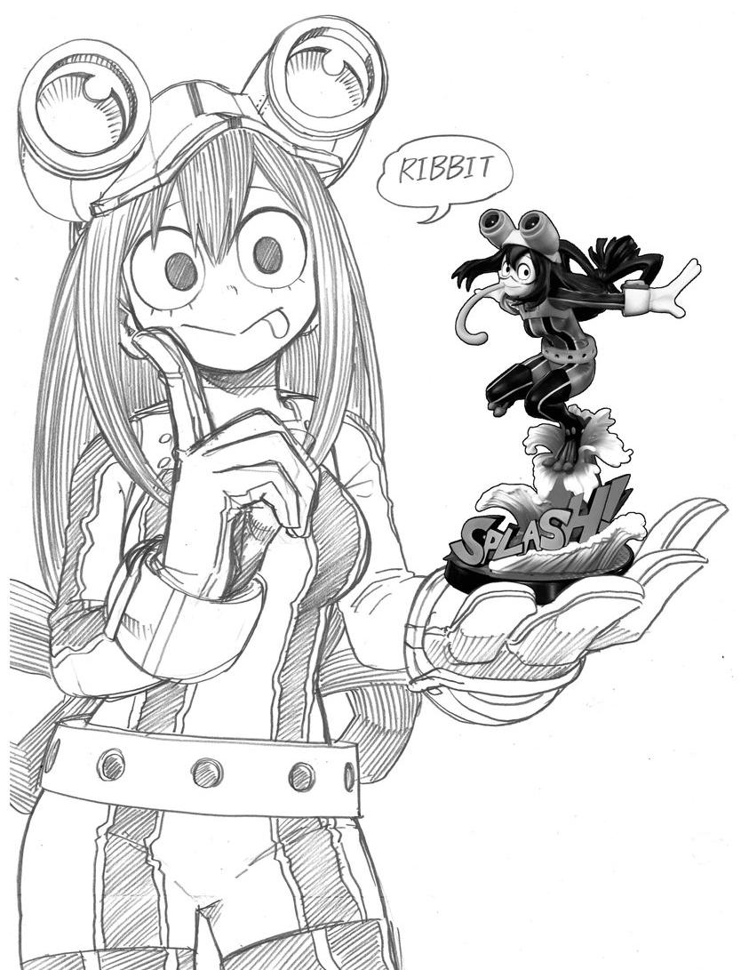 Tsuyu Asui Figure Reveal Sketch