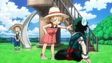 Izuku is scolded by Mahoro