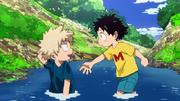 Izuku y Katsuki Niños