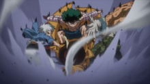 Izuku, Shoto and Mezo tackle Mr. Compress