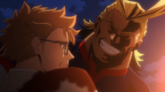 All Might saves David from Wolfram
