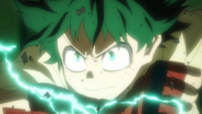 Izuku using Full Gauntlet for the first time