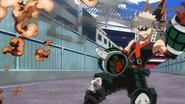 Katsuki blasts away a flesh attack