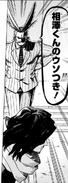 All Might confronts Aizawa manga
