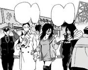 Shota, Nemuri and Naomasa talking