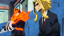 All Might and Endeavor talking