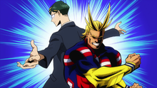 All Might and Sir Nighteye partnership