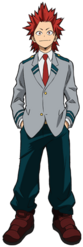 Eijiro Kirishima Student Uniform Profile