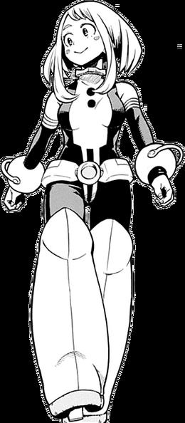 Ochaco Uraraka traje de héroe manga