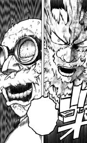 Endeavor confronts Kyudai Garaki