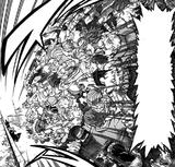 Meta Liberation Army Warriors rush Tomura Shigaraki