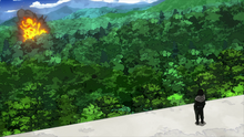 Shota contemplating Katsuki's explosion