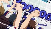 Students boo Katsuki