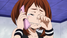 Ochaco crying