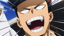 Inasa joins in the Plus Ultra cheer