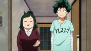 Izuku and Inko welcoming